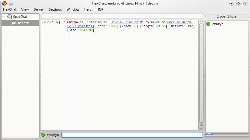 TuxArena | XNP - XChat Now Playing Script for Amarok 2 x