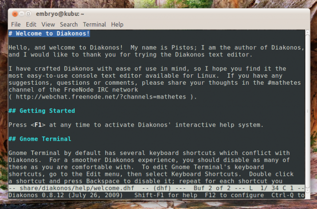 how to use emacs in terminal