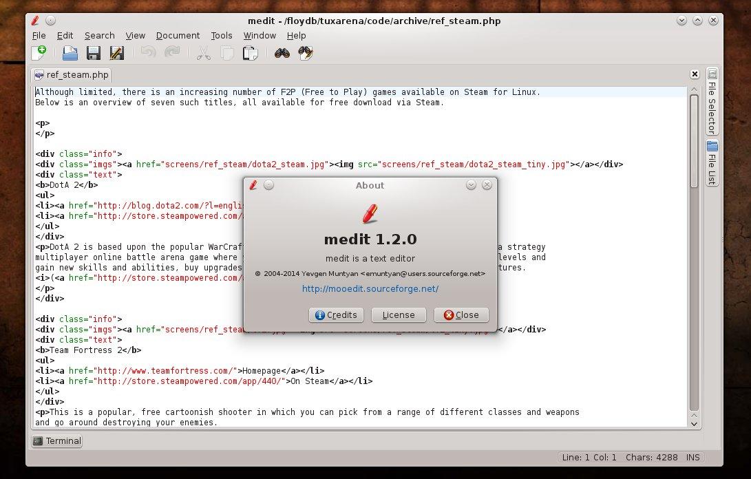 gedit pour ubuntu