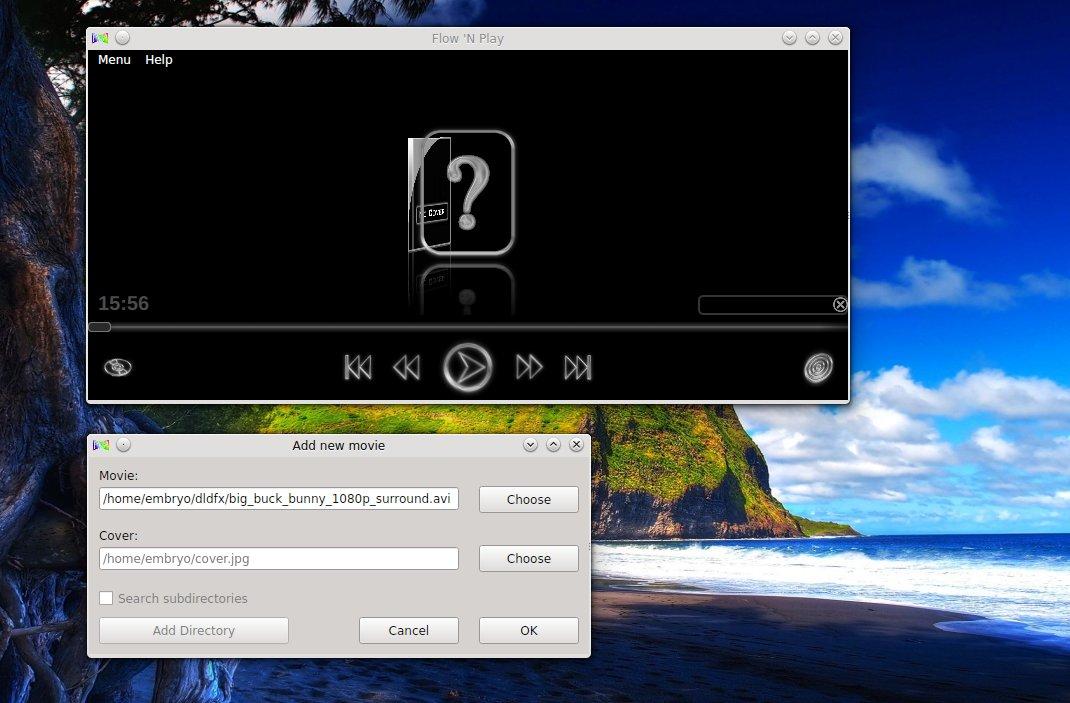 Flow 'N Play Movie Player Has a Stylish Interface [Ubuntu